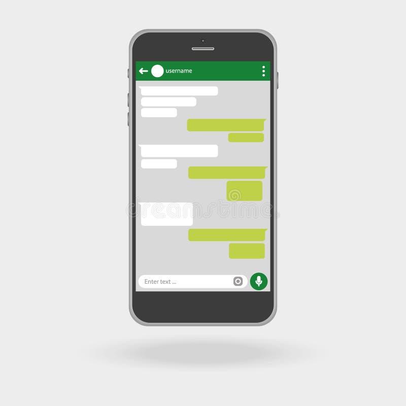 Smartphone принципиальная схема цифрово произвела высокий social res сети изображения вектор абстрактное окно вектора посыльного  иллюстрация штока