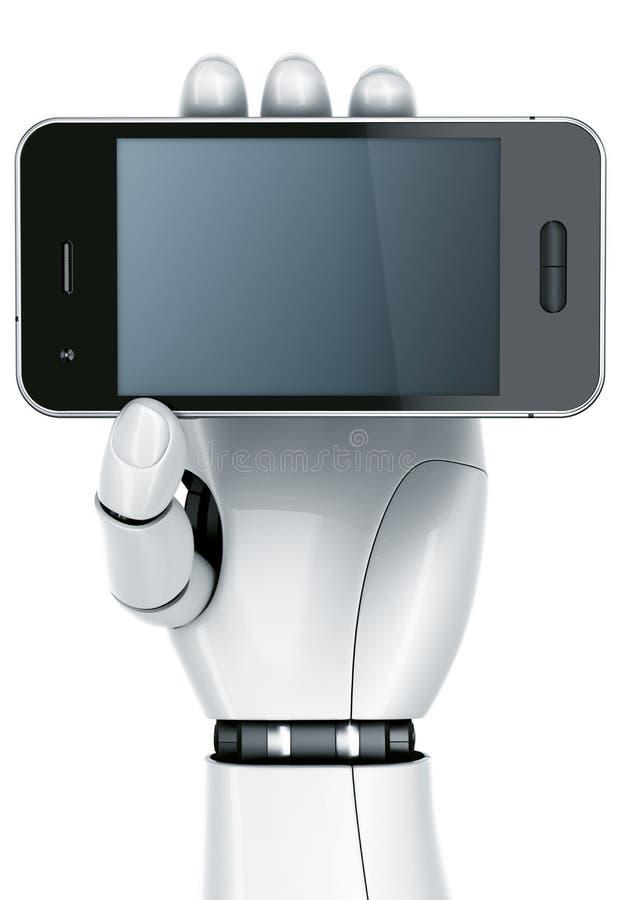 smartphone робота руки иллюстрация штока