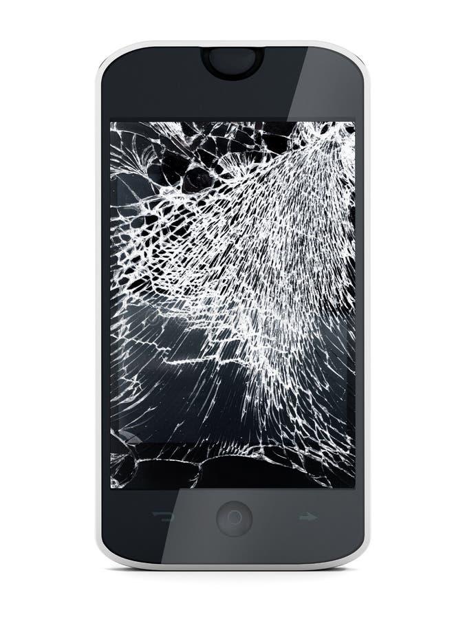 Smartphone с сломленным экраном иллюстрация вектора