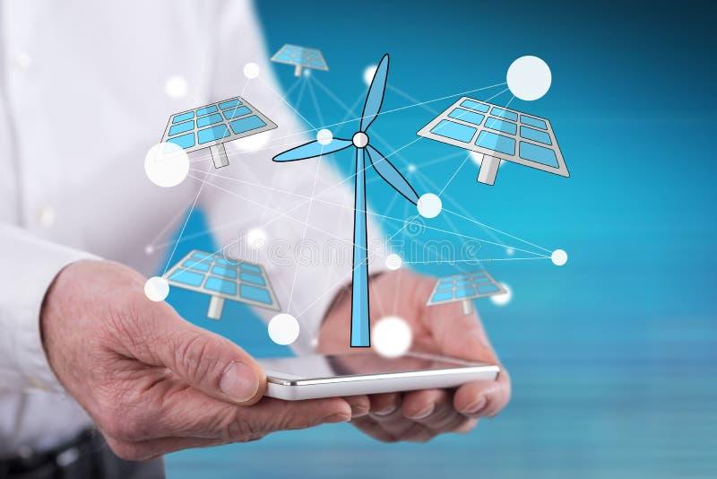 Έννοια της πράσινης ενέργειας στοκ εικόνες με δικαίωμα ελεύθερης χρήσης