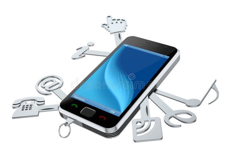 Download Smartphone stock illustration. Image of smartphone, podcast - 17656199