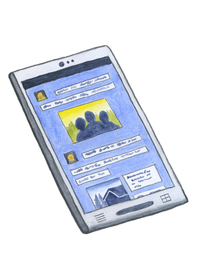 Smartphone stock afbeelding