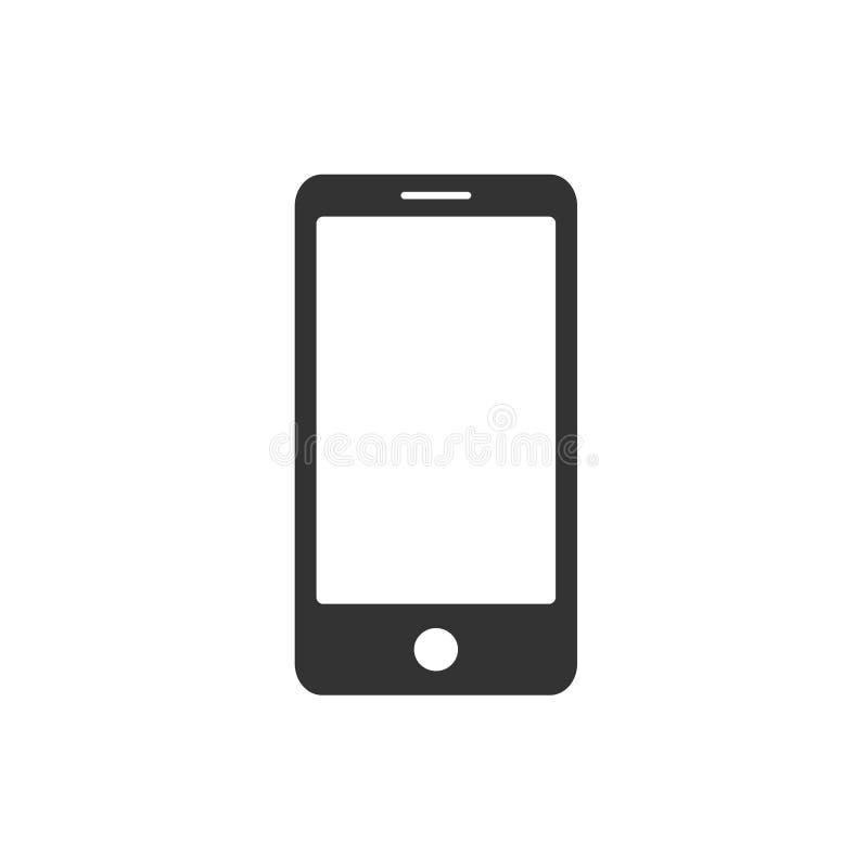 Smartphone abstrakt grafiskt symbol Plant enkelt tecken vektor illustrationer