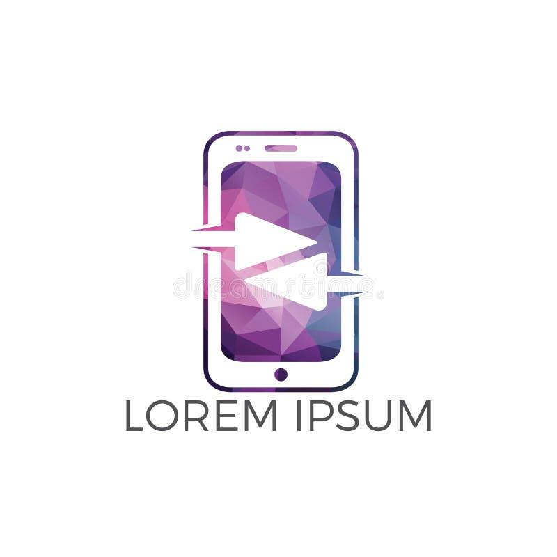 Smartphone abstrato com projeto do logotipo das setas Sinal do vetor da aplica??o do telefone celular ilustração do vetor