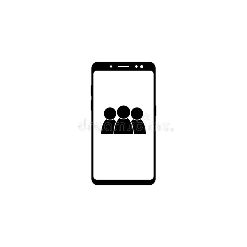 Smartphone, address book vector icon for websites and mobile minimalistic flat design. On white background stock illustration