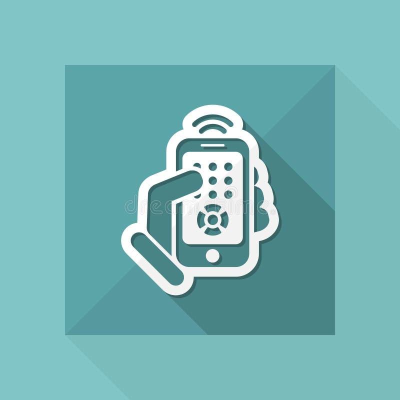 Smartphone-afstandsbedieningpictogram stock illustratie