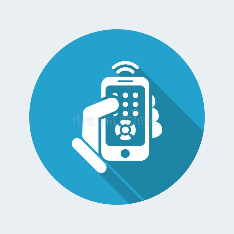 Smartphone-afstandsbedieningpictogram royalty-vrije illustratie