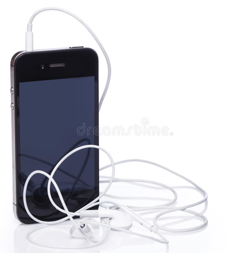Free Smartphone And Earphones Royalty Free Stock Photos - 51357928