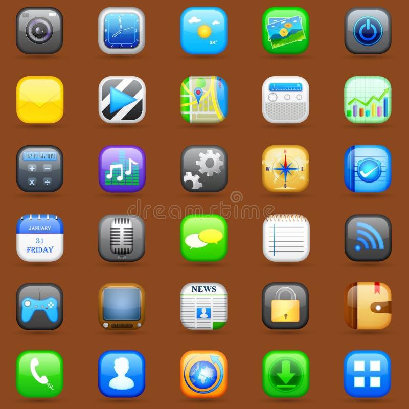 Smartphone-Anwendungs-Ikone vektor abbildung