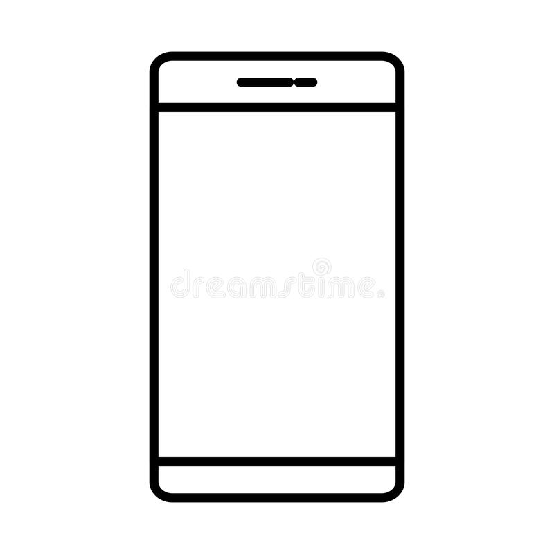Smartphone apparat isolerad symbol vektor illustrationer