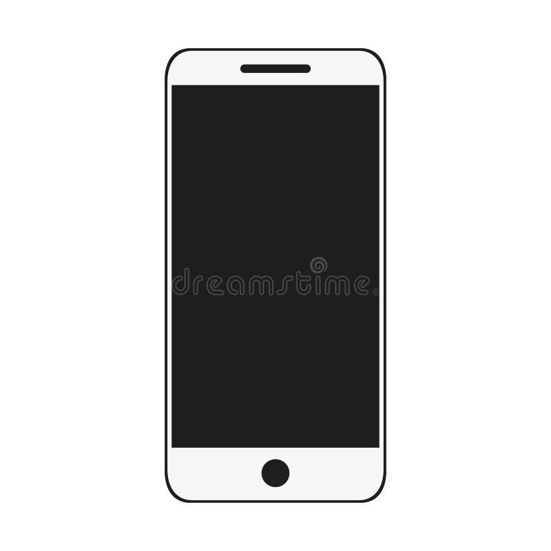 Smartphone apparat isolerad symbol stock illustrationer