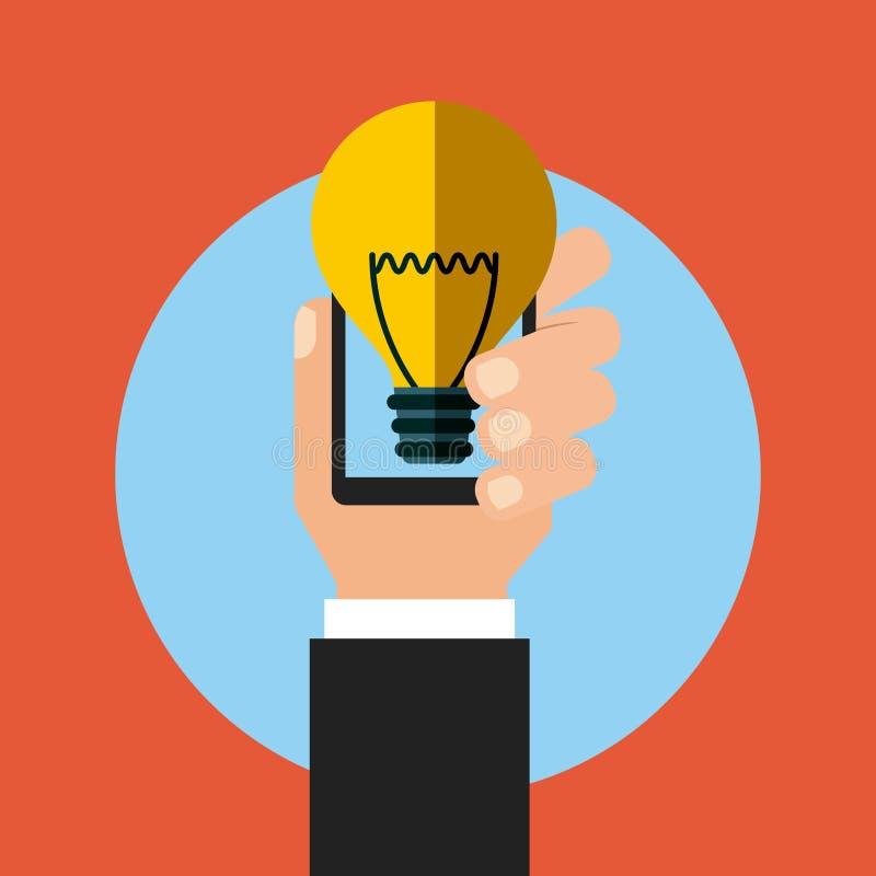 Smartphone-apparatenpictogram vector illustratie