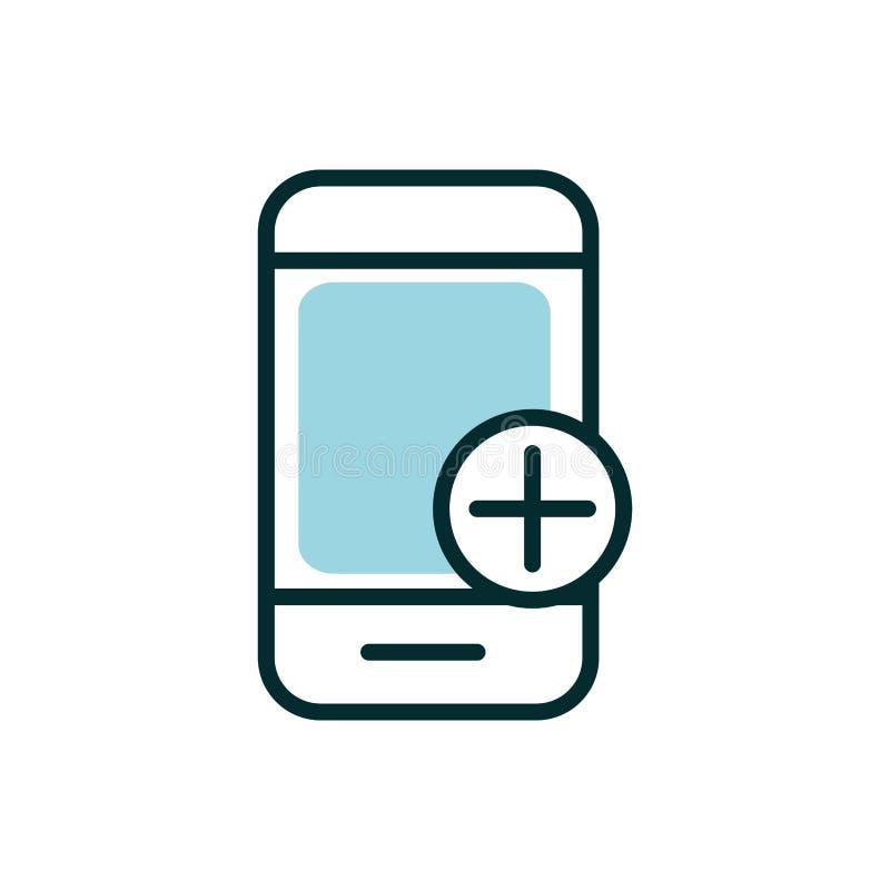 Smartphone application emergency equipment medical icon royalty free illustration