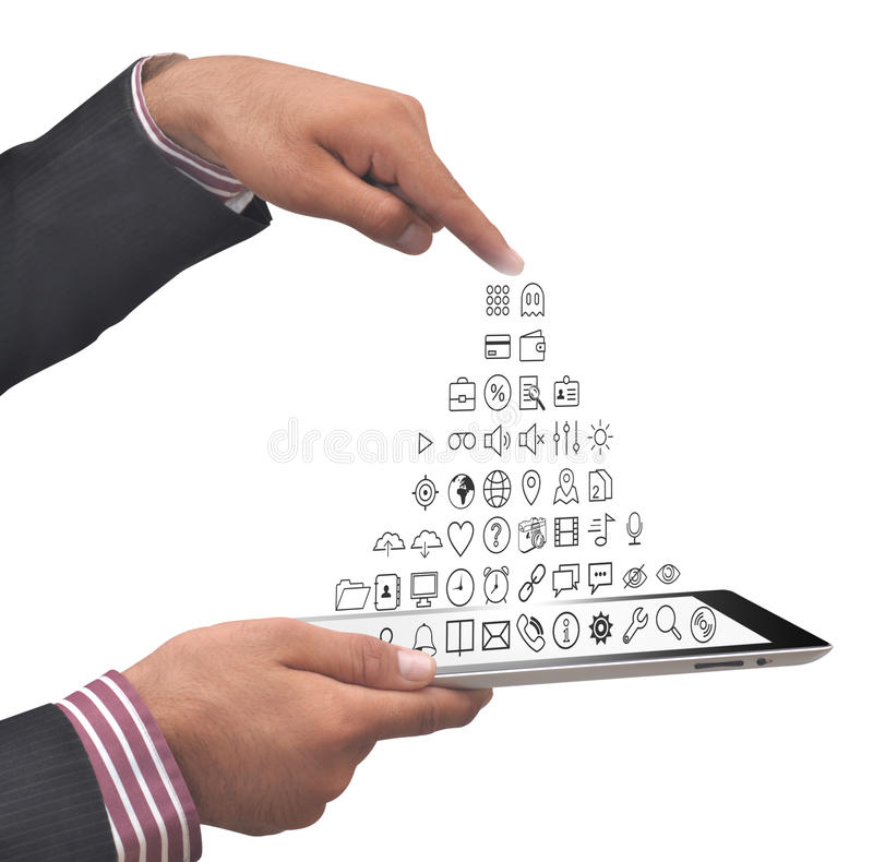 Smartphone Applications coming Out. Icon royalty free stock photos