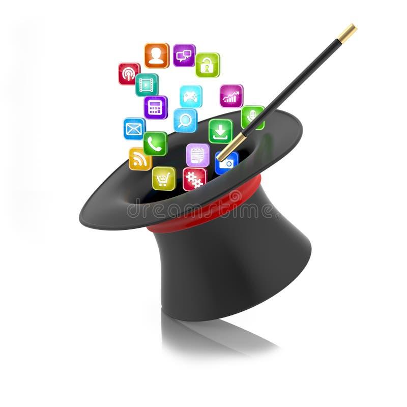 Download Smartphone Applications Concept Stock Illustration - Image: 32261105