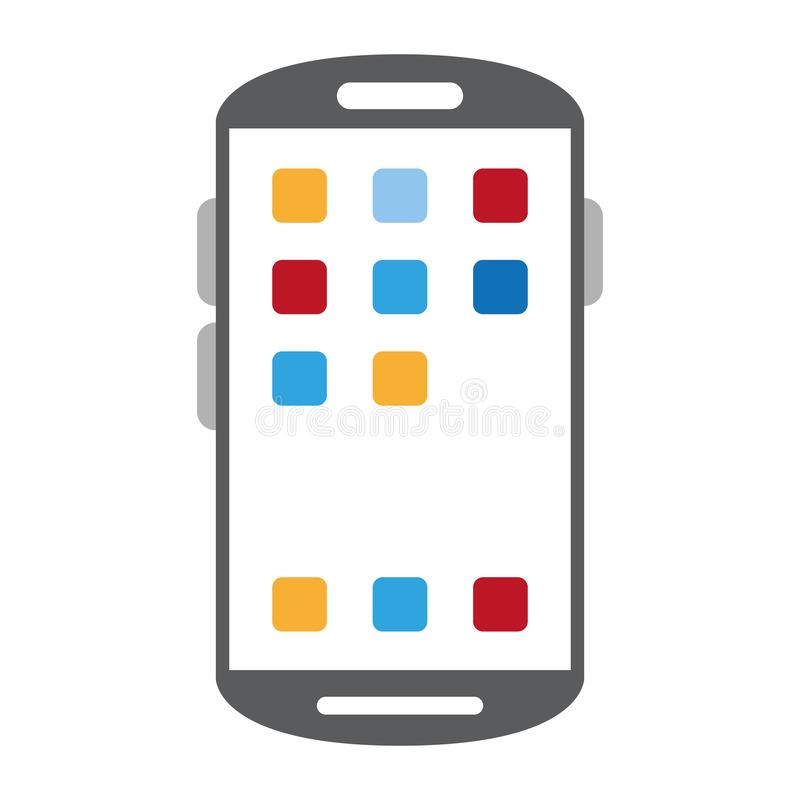 Smartphone with applications menu symbol. Vector illustration graphic design vector illustration