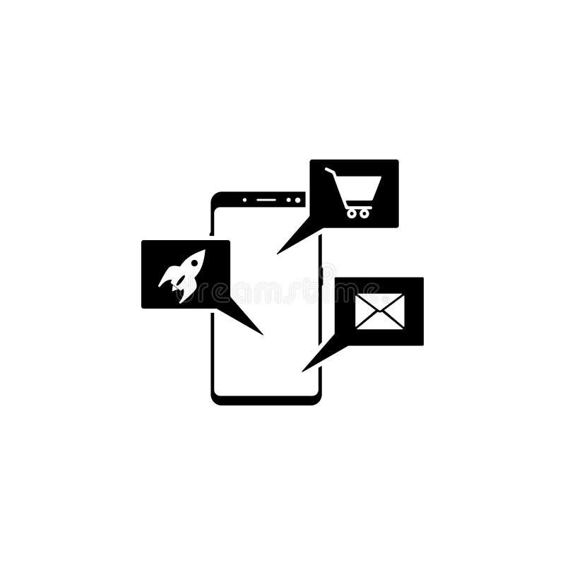 smartphone, applikationvektorsymbol för websites och mobil minimalistic plan design vektor illustrationer