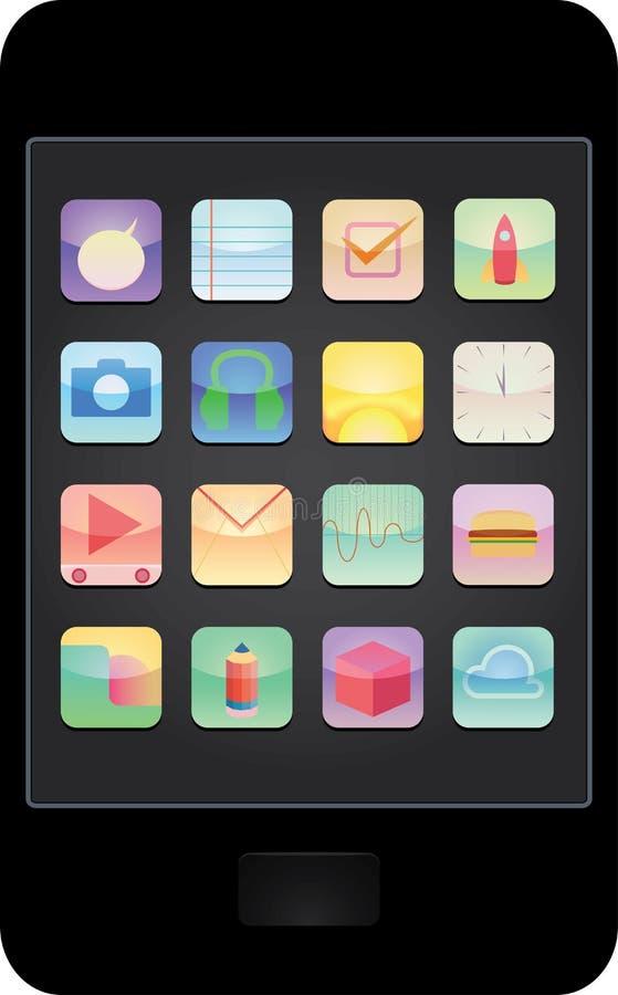 Smartphone apps - illustration arkivfoto
