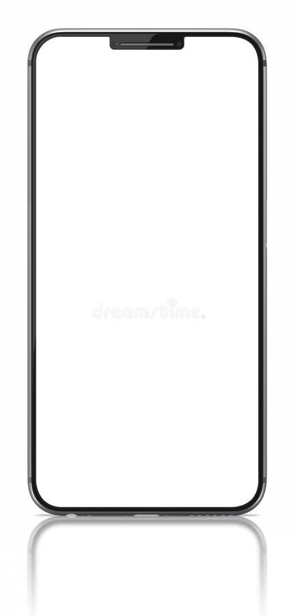 Smartphone avec l'écran vide sur le blanc illustration de vecteur