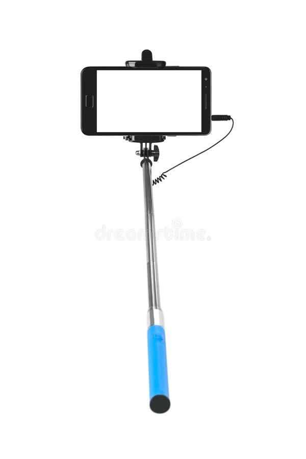 Smartphone avec le bâton de selfie photos stock