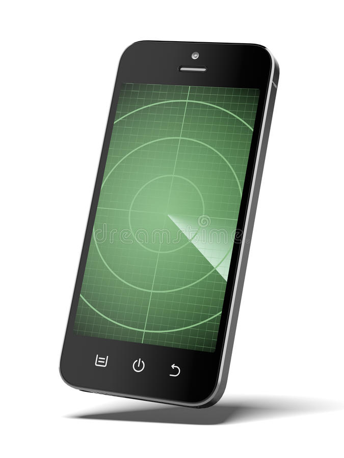 Smartphone avec le radar illustration de vecteur
