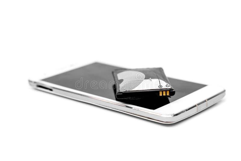 Smartphone-Batterieschwellen stockfotografie