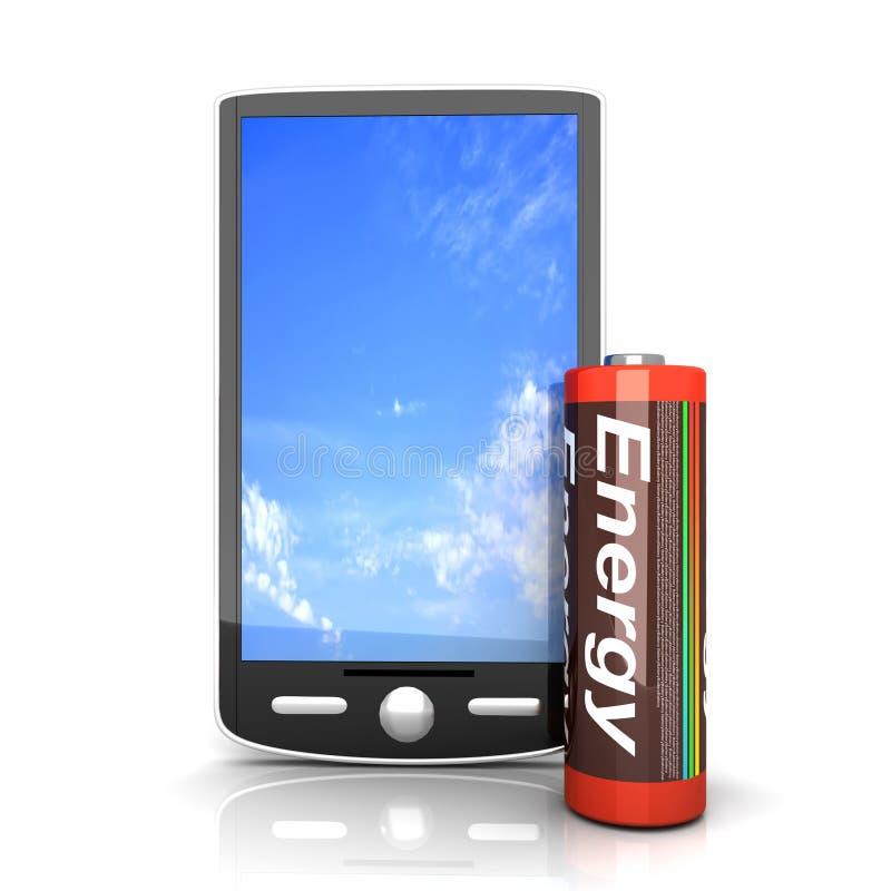 Download Smartphone Battery stock illustration. Image of mobile - 18867291