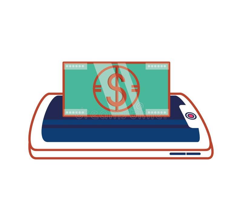 Smartphone with bill dollar. Vector illustration design vector illustration