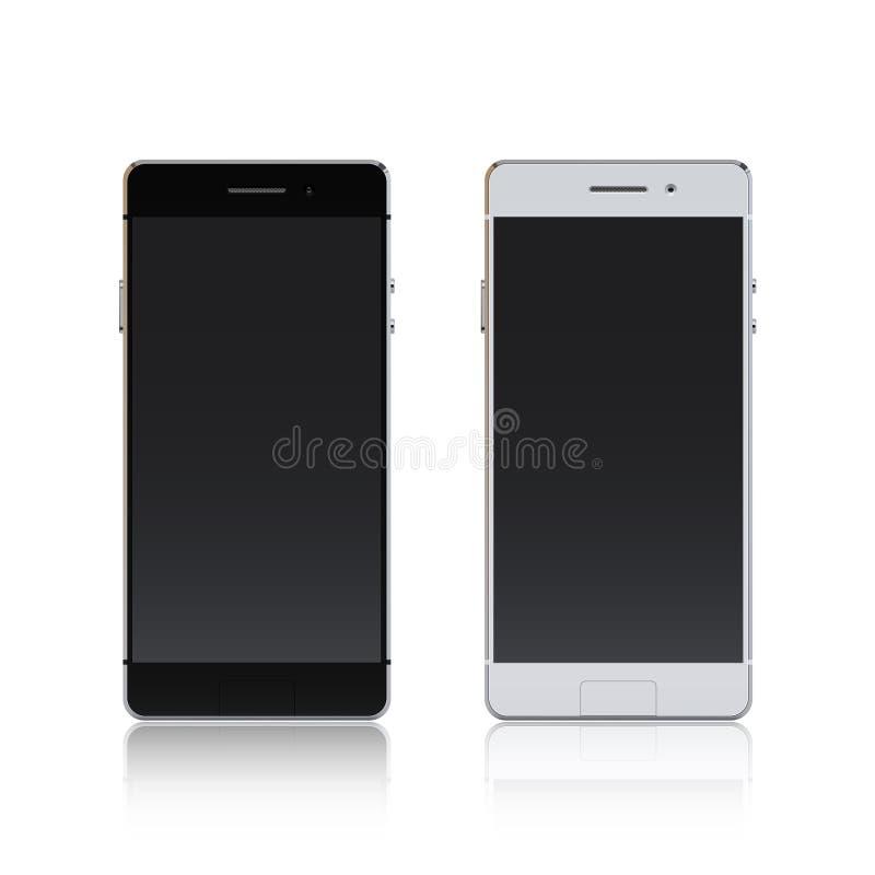 Smartphone blanco y negro libre illustration