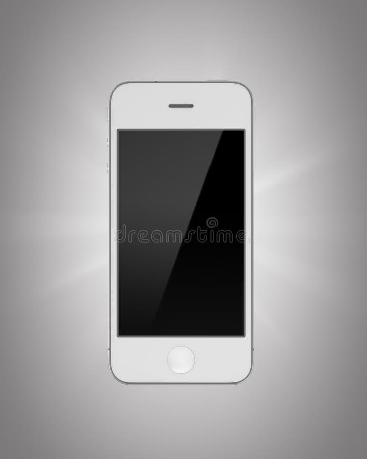 Smartphone branco isolado em um fundo cinzento imagens de stock
