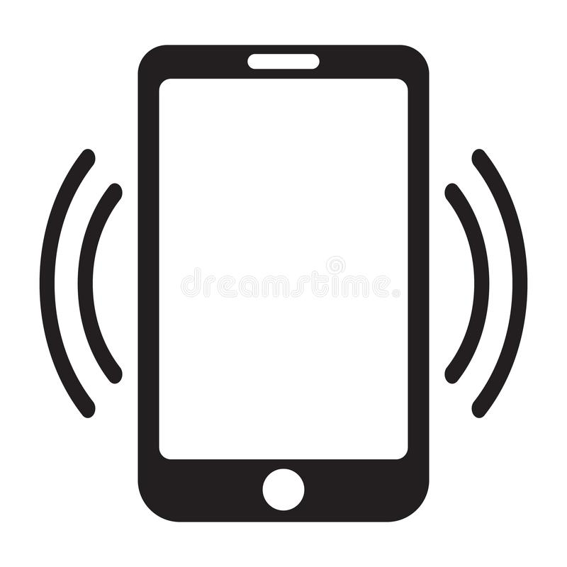 Smartphone call icon, mobile phone call icon. royalty free illustration