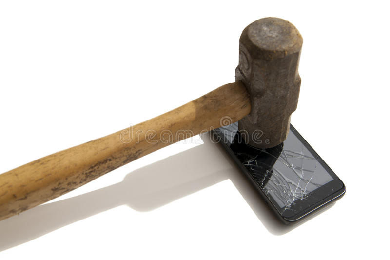 Smartphone cassé photo stock