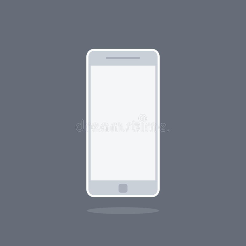 Smartphone or cellphone icon, royalty free stock photos