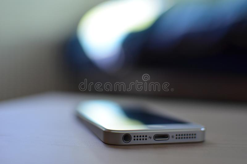 Smartphone Cellphone Table royalty free stock image