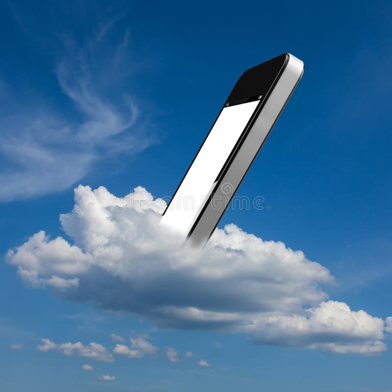 Download Smartphone in the cloud stock illustration. Illustration of cloud - 25674787