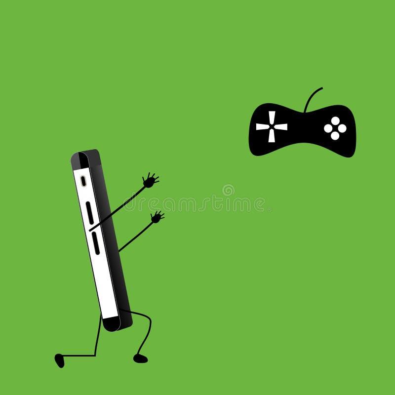 Smartphone com jostick do jogo de vídeo foto de stock