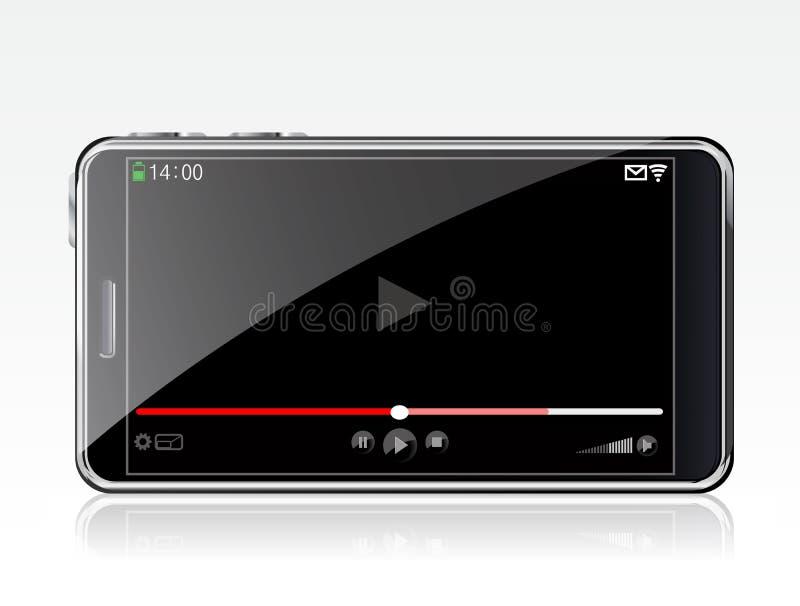 Smartphone com vídeo ilustração royalty free