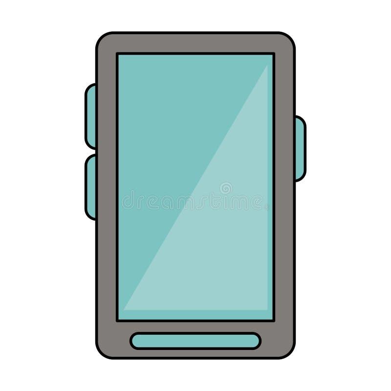 Smartphone communicaiton mobilna technologia odizolowywająca ilustracji