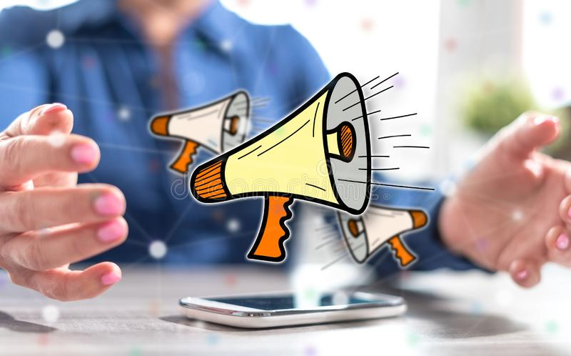 Concept of communication stock photography