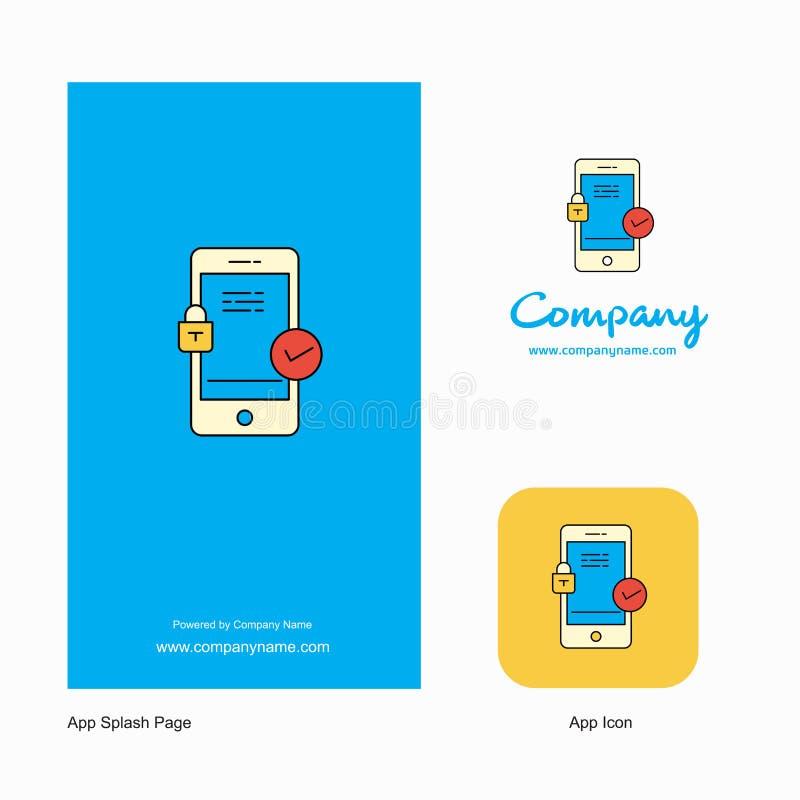 Smartphone Company Logo App Icon e progettazione della pagina della spruzzata Elementi creativi di progettazione del App di affar royalty illustrazione gratis