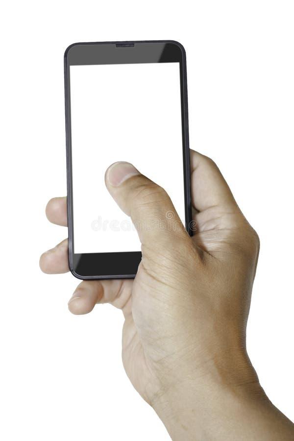 Smartphone con area in bianco per il messaggio illustrazione vettoriale