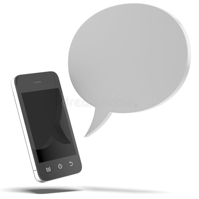 Smartphone con discorso della bolla royalty illustrazione gratis
