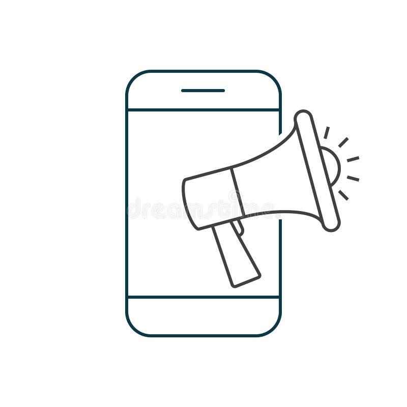 Smartphone con l'altoparlante Vendita mobile illustrazione vettoriale