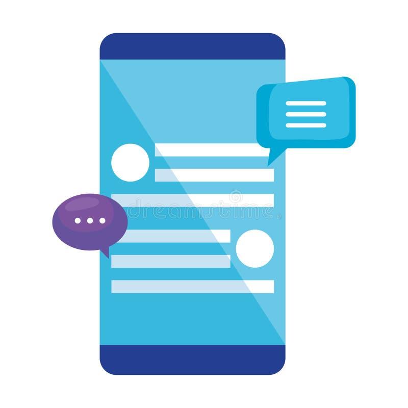 Smartphone con la burbuja del discurso libre illustration