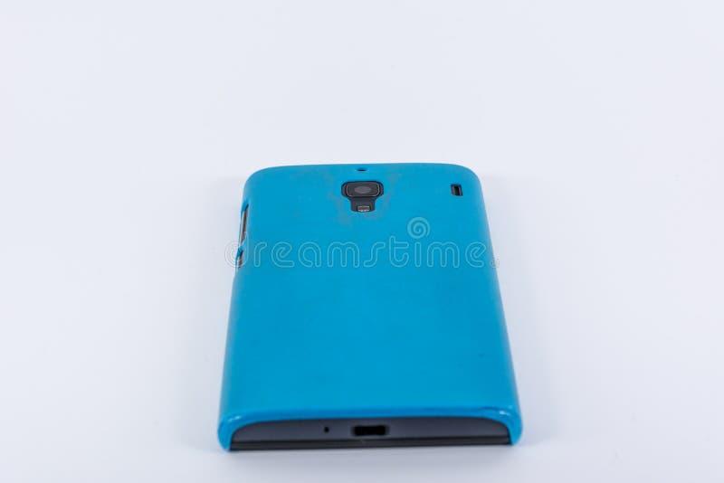 Download Smartphone Con La Cubierta Azul Foto de archivo - Imagen de comunicación, mano: 100535058