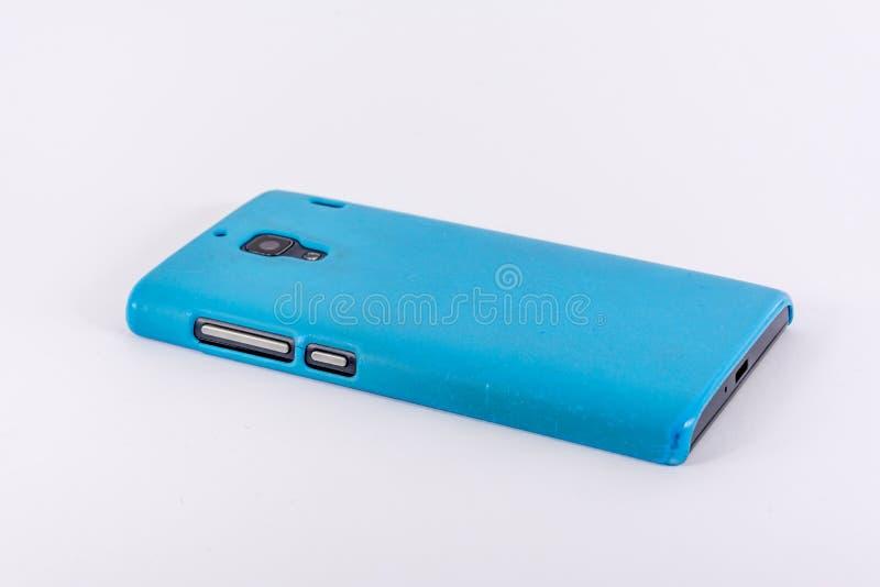 Download Smartphone Con La Cubierta Azul Foto de archivo - Imagen de blanco, tablilla: 100535064