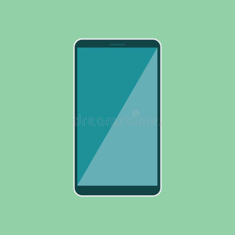 Smartphone con la pantalla vacía gris Vector eps10 del teléfono móvil de la pantalla táctil ilustración del vector
