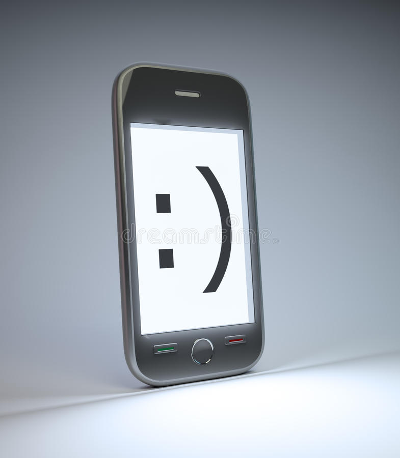 Download Smartphone Con Un Emoticon Di Sorriso Illustrazione di Stock - Immagine: 24958494