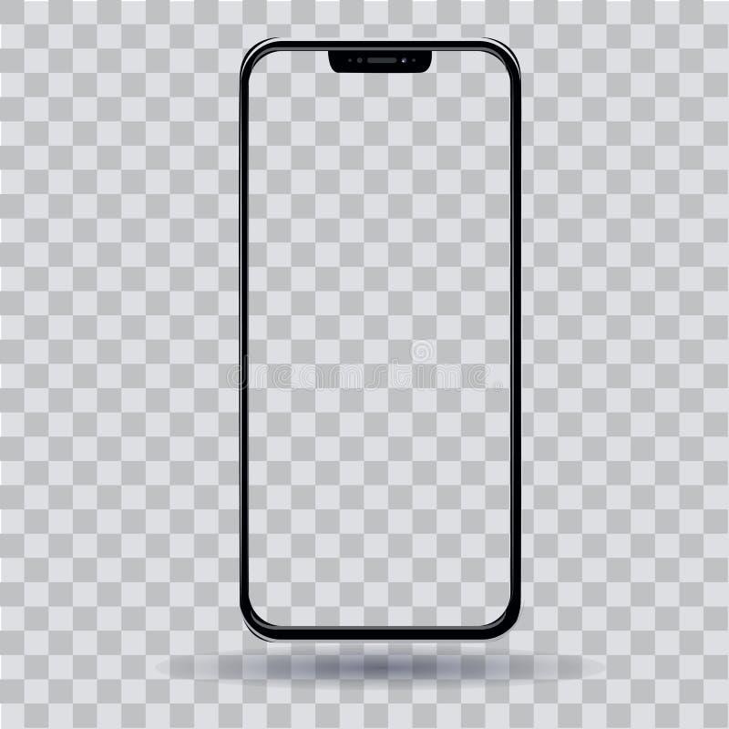Smartphone con una pantalla transparente libre illustration