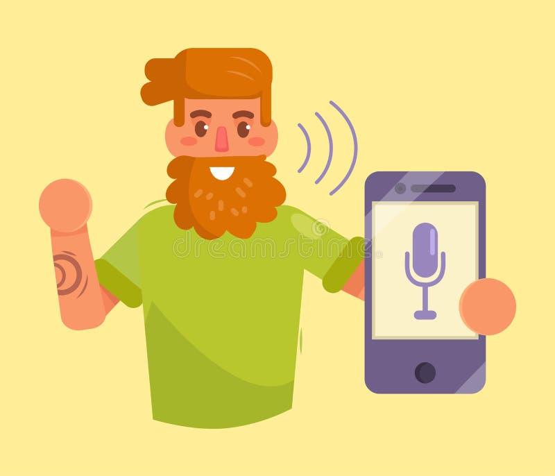 Smartphone Control de la voz ilustración del vector